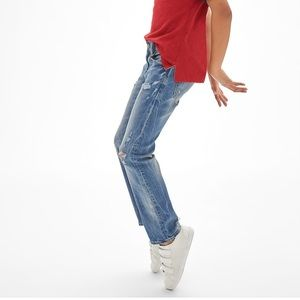 GAP Kids Destructed Straight Jeans with Stretch